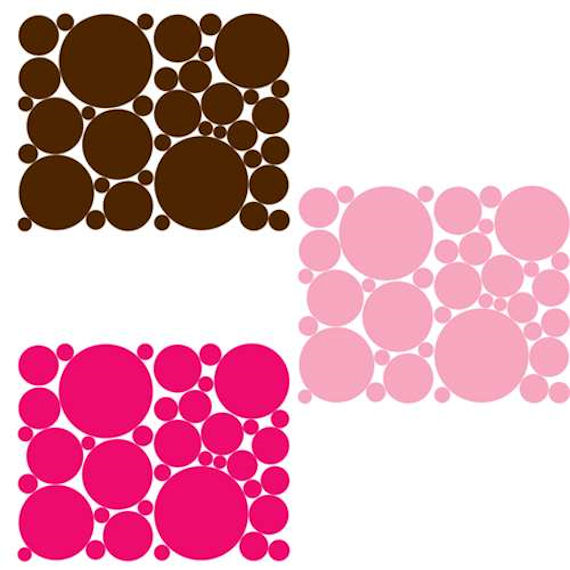 Light Pink Bright Pink And Chocolate Polka Dots
