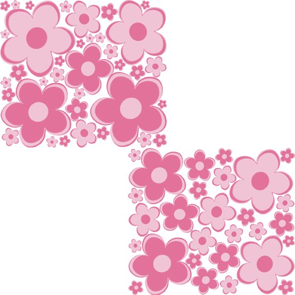 pink fun flowers peel and stick wall stickers pink flower wall stickers living room bedroom wall art decals