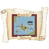 Sherri Blum Small Pirate Map Peel Stick Wall Mural