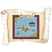 Sherri Blum Large Pirate Map Peel Stick Mural