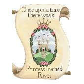 Sherri Blum Personalized Princess Scroll Sticker