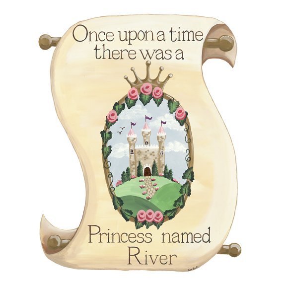 Sherri Blum Personalized Princess Scroll Sticker  - Wall Sticker Outlet
