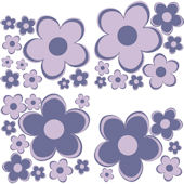 Purple Fun Flower Peel and Stick Small Kit