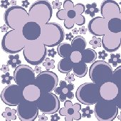 Purple Fun Flowers Peel and Stick Wall Stickers