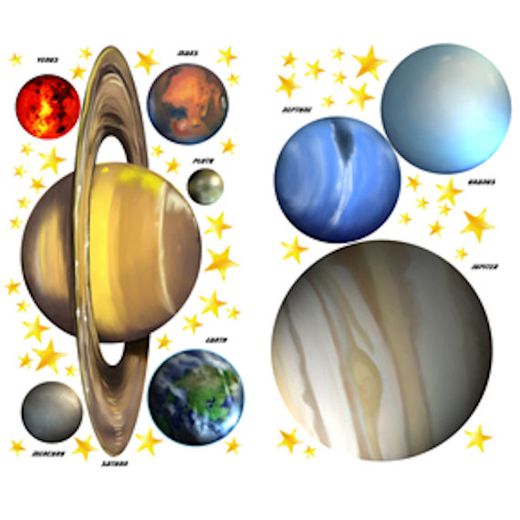 solar system cut outs pics about space glow in the dark space 46 big wall decals stars moon