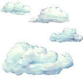 10 Cloud Wall Transfer Stickers