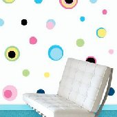 225 Multi Color Dot Wall Transfer Stickers