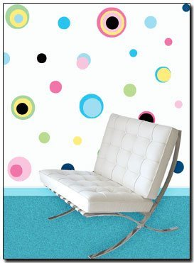 225 Multi Color Dot Wall Transfer Stickers - Wall Sticker Outlet