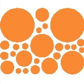 25 Tangerine Polka Dot Wall Transfer Stickers