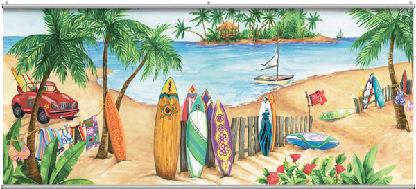 Island Time Minute Mural - Wall Sticker Outlet