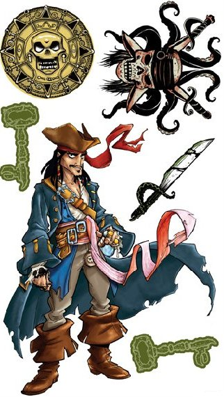 Jack Sparrow Decals