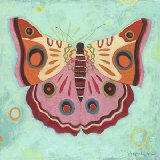 Aqua Peace Butterfly Wall Canvas Art