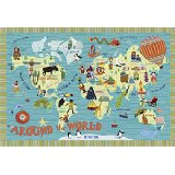 Around the World Wall Canvas Art