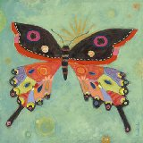 Green Peace Butterfly Canvas Wall Art