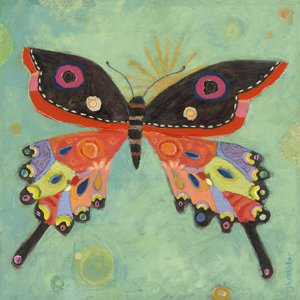 Green Peace Butterfly Canvas Wall Art - Wall Sticker Outlet