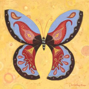 Peach Peace Butterfly WalL Canvas Art - Wall Sticker Outlet
