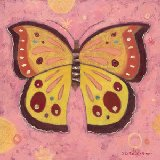 Pink Peace Butterfly Wall Canvas Art