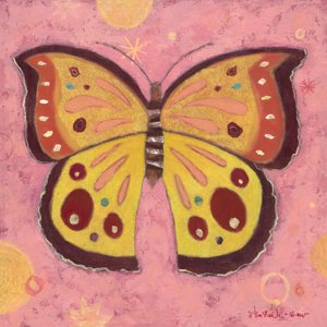 Pink Peace Butterfly Wall Canvas Art - Wall Sticker Outlet
