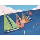 Sailing Regatta Wall Canvas Art