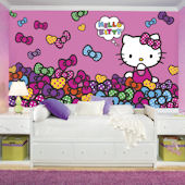 Hello Kitty Bows Bow-tastic XL Prepasted Mural