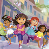 Dora and Friends XL Wall Mural 6.5 x10 Feet