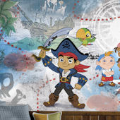 Captain Jake Neverland Pirates Mural 6.5 x 10 Ft