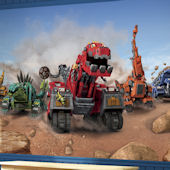 Dinotrucks XL Wall Mural 6.5 x 10 Ft