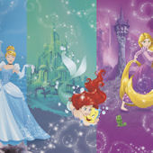 Disney Princess Scenes XL Mural 6.5 x 10 Ft