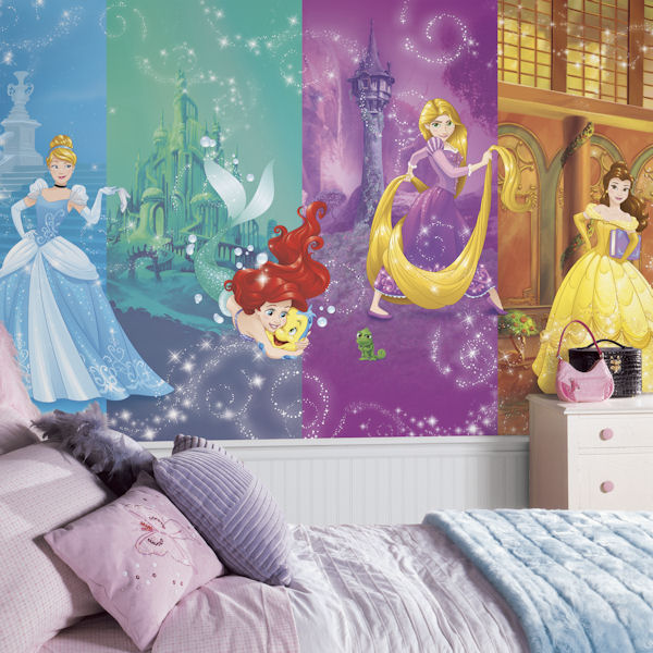 Disney Princess Scenes XL Mural 6.5 x 10 Ft - Wall Sticker Outlet