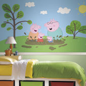 Peppa Pig XL Mural 6.5 x 10 Ft