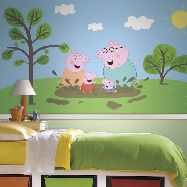 Peppa Pig XL Mural 6.5 x 10 Ft - Wall Sticker Outlet