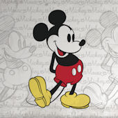 Classic Mickey Mouse XL Wall Mural 6.5 x 10 Ft