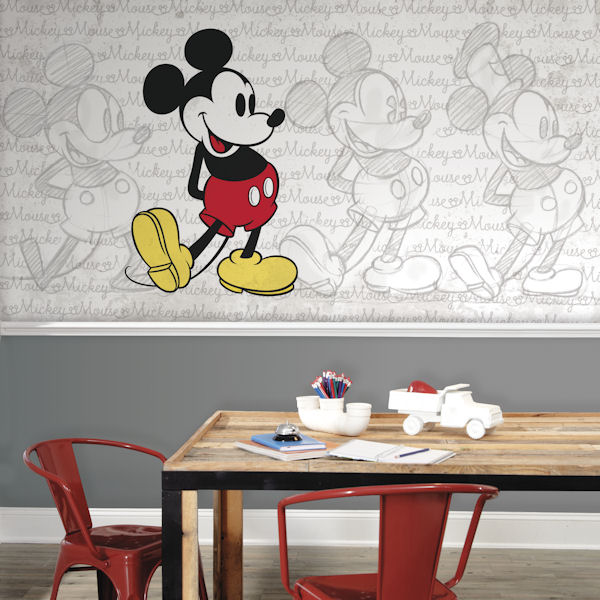 Classic Mickey Mouse XL Wall Mural 6.5 x 10 Ft - Wall Sticker Outlet