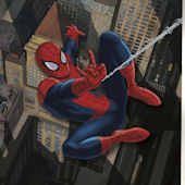 Spiderman CitiScape XL Wall Mural 6.5 x 10 Ft