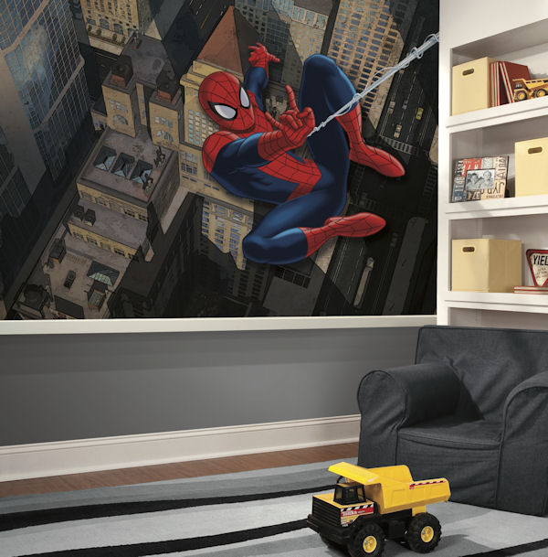 Spiderman CitiScape XL Wall Mural 6.5 x 10 Ft - Wall Sticker Outlet
