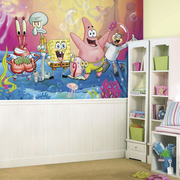 Spongebob Squarepants XL Mural 6.5 x 10 Ft - Wall Sticker Outlet