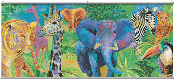 Jungle Two Wall Minute Mural - Wall Sticker Outlet