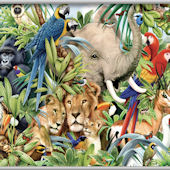Jungle Animals Minute Mural