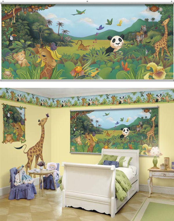 Jungle Wall Minute Mural - Wall Sticker Outlet