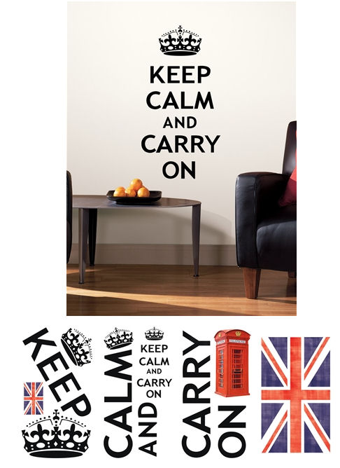 Keep Calm and Carry On Wall Decals - Wall Sticker Outlet
