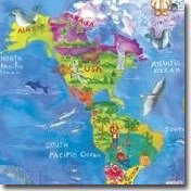 Kids Map Wall Art