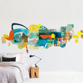 Minted Lake and Trees Repositionable Wall Mural