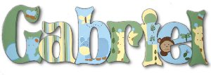 Little Zoo Wooden Wall Letters - Kids Wall Decor Store