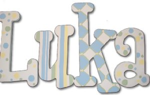 Luka Wooden Wall Letters - Kids Wall Decor Store