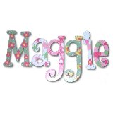Maggies Girl Wooden Wall Letters