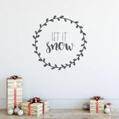Urbanwalls Let It Snow Wall Decal