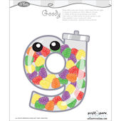 Lil Bets Letter G Peel and Stick Sticker