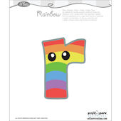 Lil Bets Letter R Peel and Stick Sticker