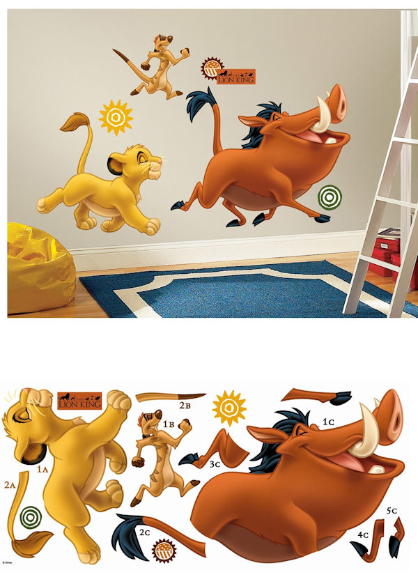 the lion king giant wall decals. Black Bedroom Furniture Sets. Home Design Ideas