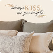 Lot 26 Studio Tan Always Kiss Me Wall Decal